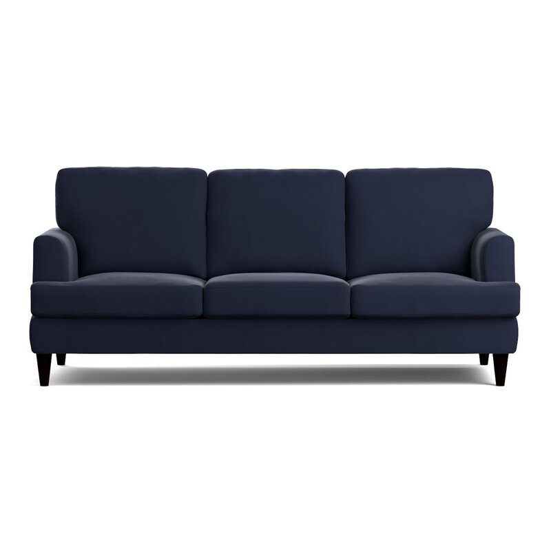 Blue Slipcover Sofa Navy Comfort Works Custom