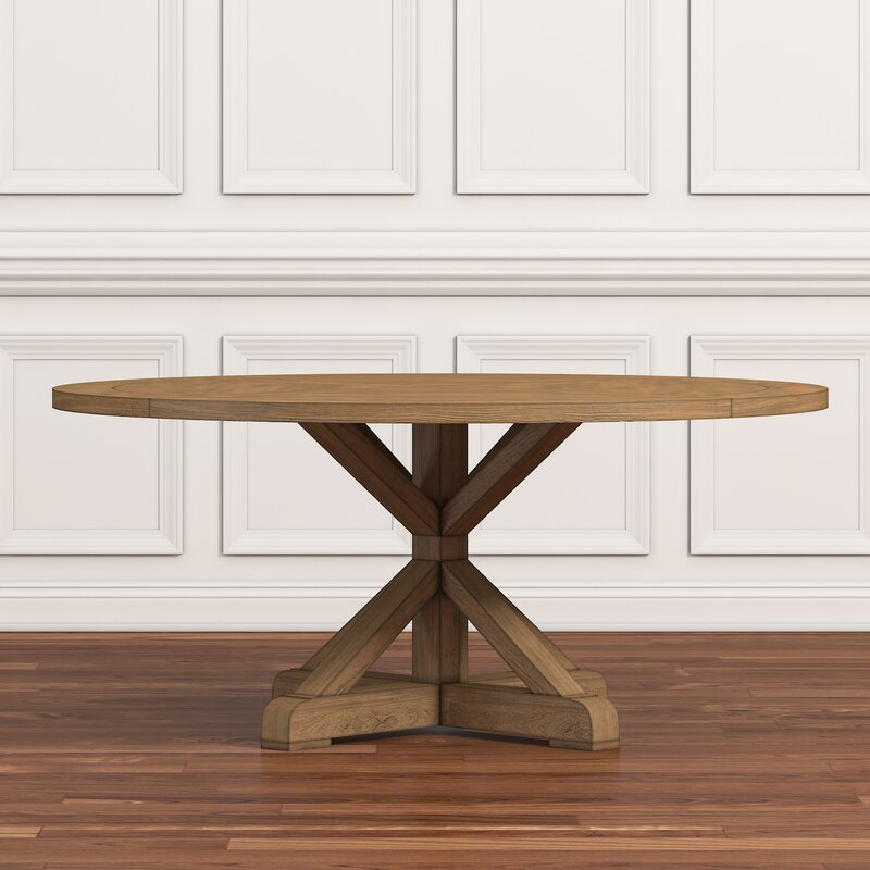 Rustic Round Kitchen Table: Lark Manor Peralta Round Rustic Dining Table & Reviews