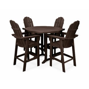 Vineyard Adirondack Nautical Trestle 5 Piece Bar Set