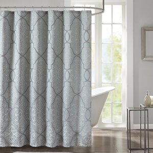 Colden Shower Curtain. Silver/Gray