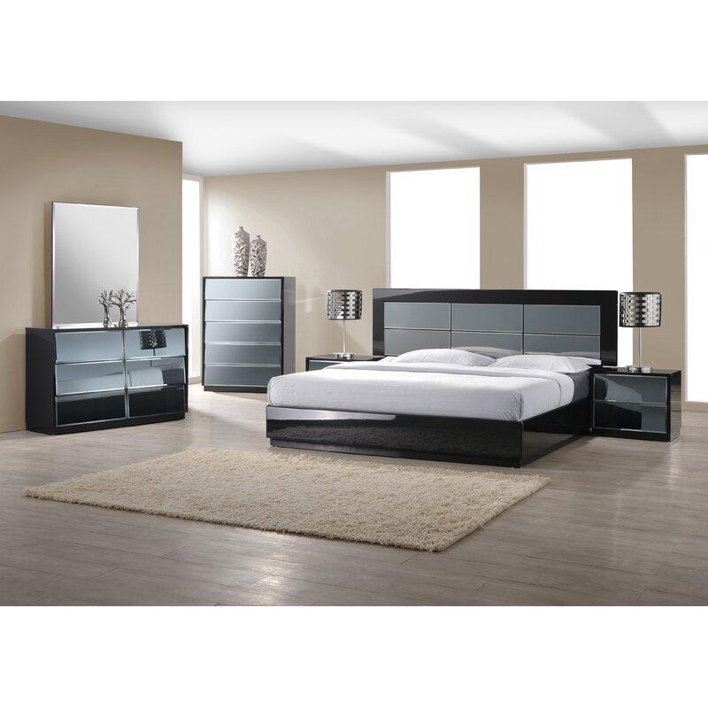 Orren Ellis Ashish Contemporary Platform Configurable Bedroom Set ...