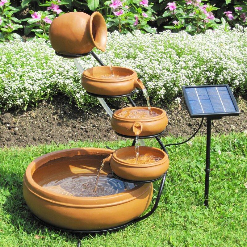Solar Koolscapes Solar Cascading Fountain