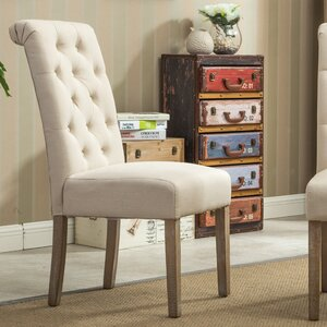 Sabanc Solid Wood Button Tufted Side Chair (Set of 2)