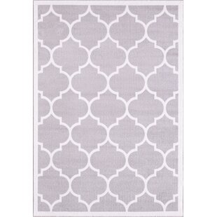Eastlawn Trendy Silver Area Rug by Three Posts