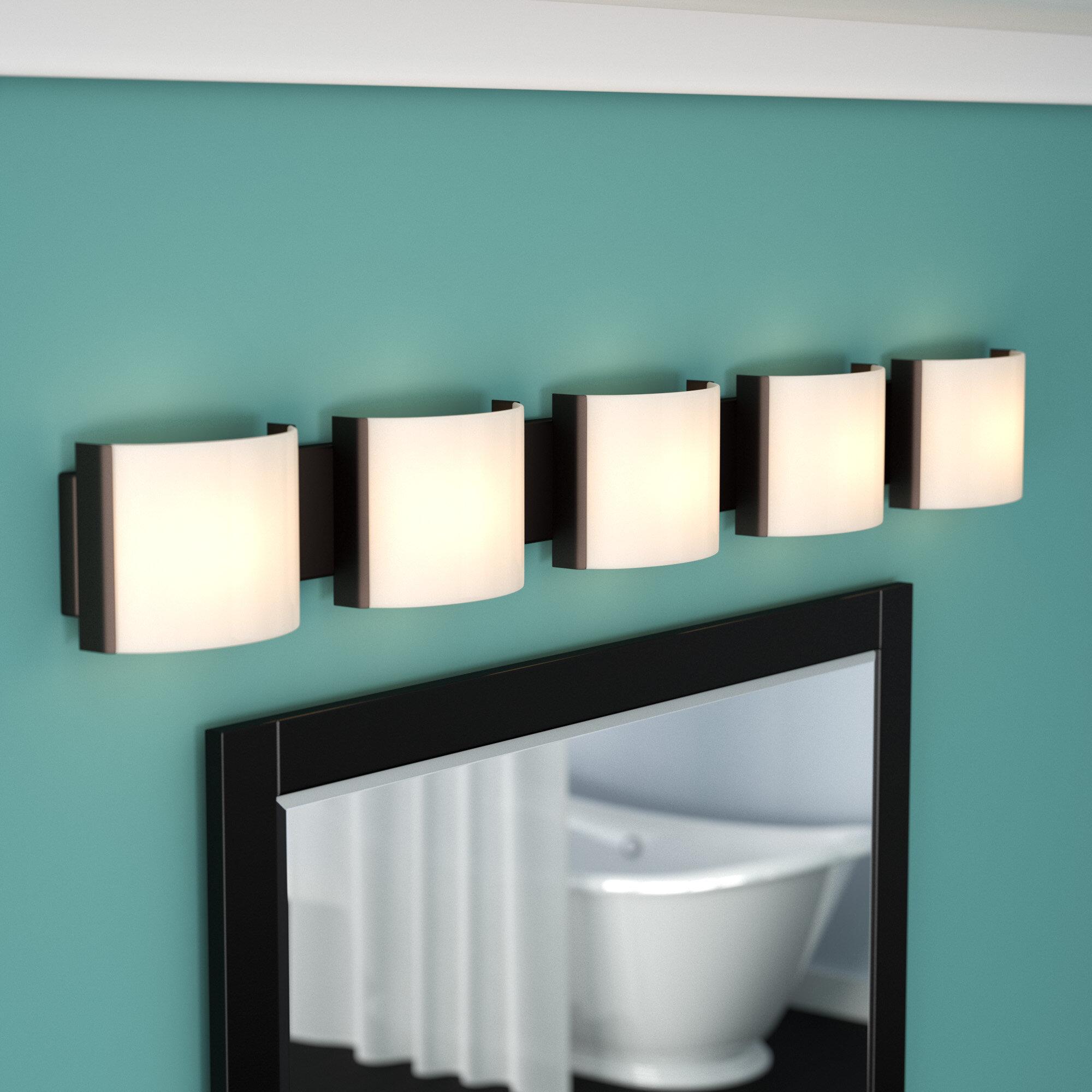 Zipcode Design Chaunte 5-Light Bath Bar & Reviews | Wayfair