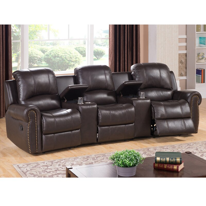 default name. Amax Bloomington Leather Home Theater Recliner   Wayfair