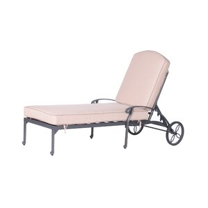 Bean Single Chaise Lounge with Cushion  sc 1 st  Wayfair.com : metal chaise - Sectionals, Sofas & Couches