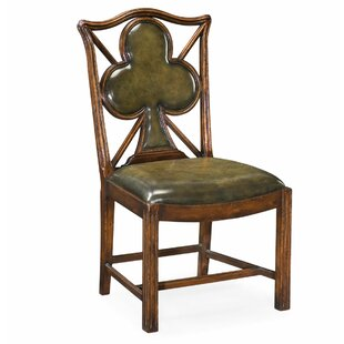 Windsor Genuine Leather Upholstered Dining Chair (Set of 2)