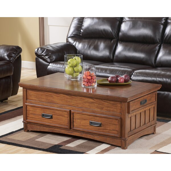 Loon Peak Barrett Trunk Coffee Table With Lift Top Reviews