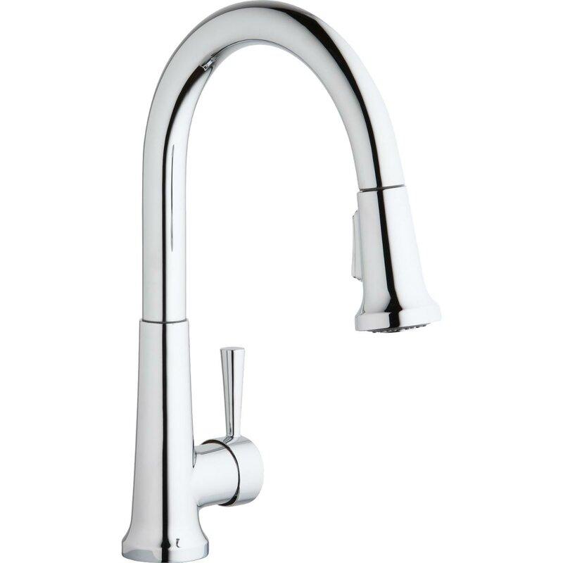 Elkay Pull Down Single Handle Kitchen Faucet & Reviews | Wayfair