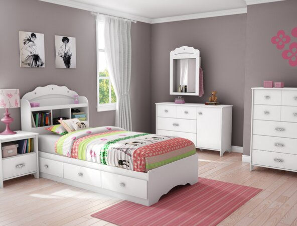 Bedroom For Kids south shore tiara twin platform customizable bedroom set & reviews