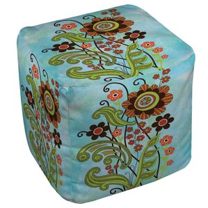 Flower Power Stems Ottoman by Manual Woodworkers & Weavers