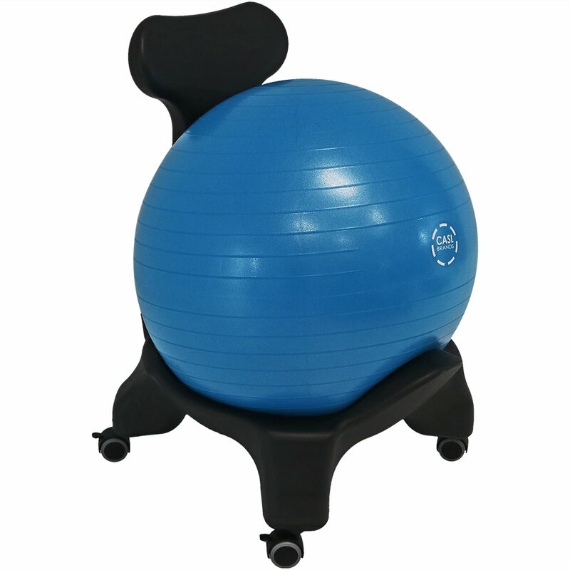 Knorr Yoga Balance Ball Chair With 52 Centimeter Stability Ball And Pump