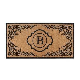 Albertina Hand Crafted Coir Monogrammed Doormat