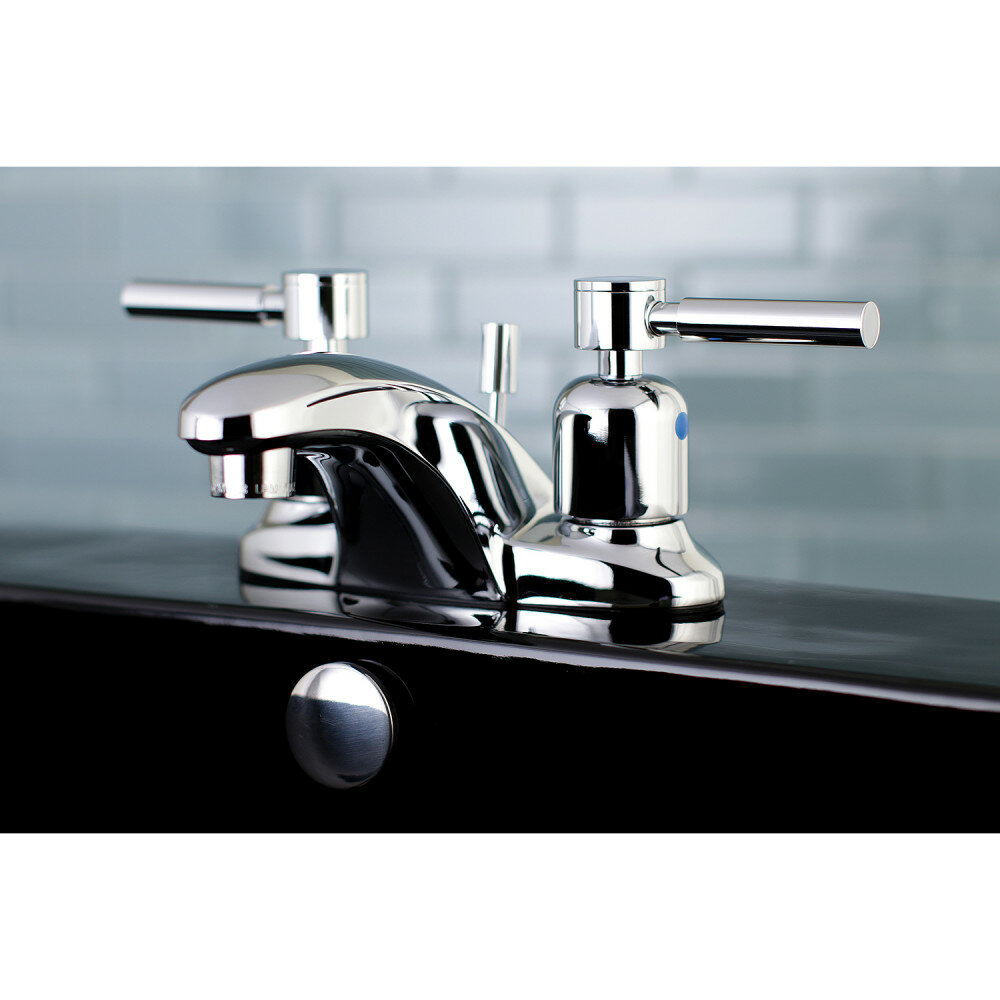 Kingston Brass Concord Centerset Bathroom Faucet with Drain Assembly ...