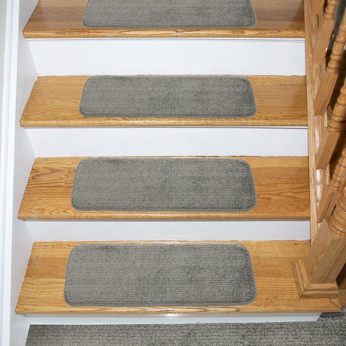 Beattie Soft Solid Shag Carpet Stair Tread