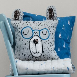 Ferm Living Kids Little Mr. Teddy Throw Pillow