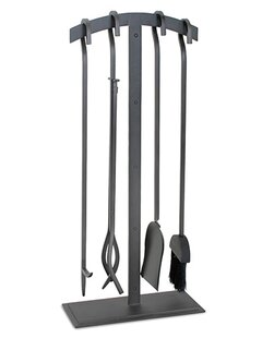Fireplace tools youll love wayfair shadow 5 piece iron fireplace tool set teraionfo