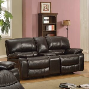 Kiowa Leather Recliner Reclining Loveseat by..