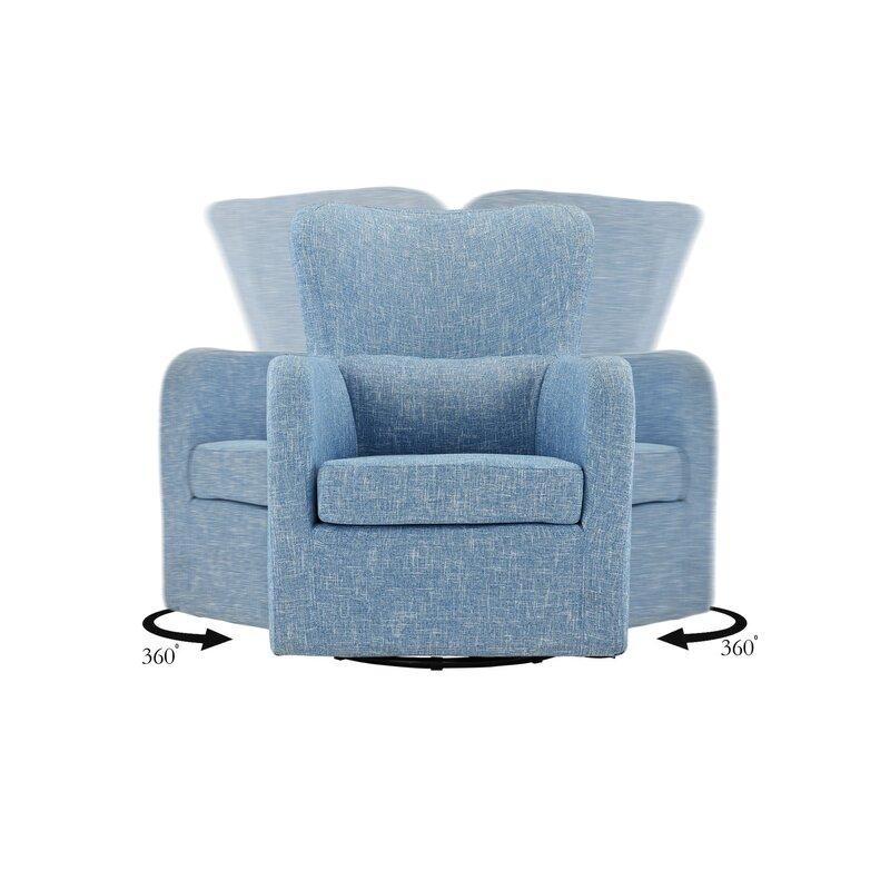 Aucoin Modern Swivel Armchair