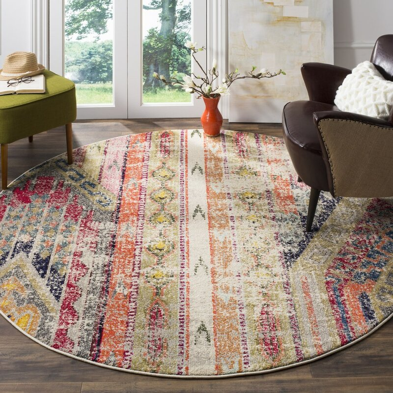 Superior Elston Abstract Multicolor Area Rug