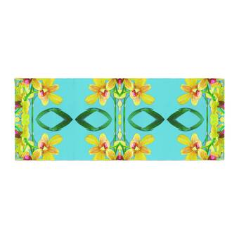 Kess InHouse Theresa Giolzetti Procida Teal Blue Red Bed Runner