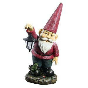 Sammy the Solar Lantern Gnome Statue