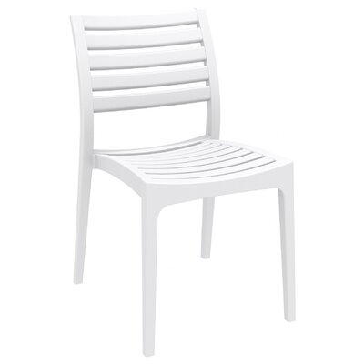 Nevarez Stacking Patio Dining Chair (Set Of 2)