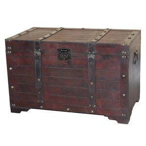 Pierre Antique Large Wooden Storage Trunk