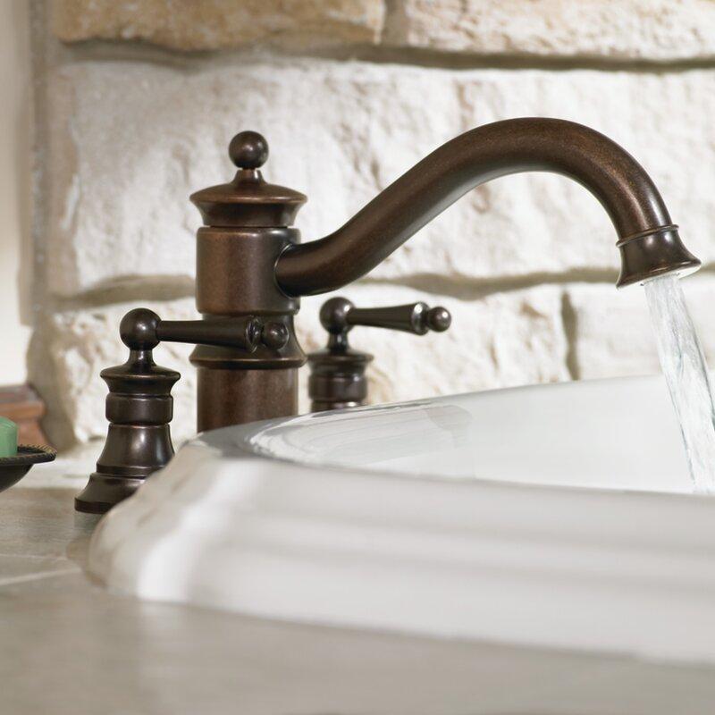 Moen Waterhill Double Handle Deck Mount Roman Tub Faucet Trim with ...