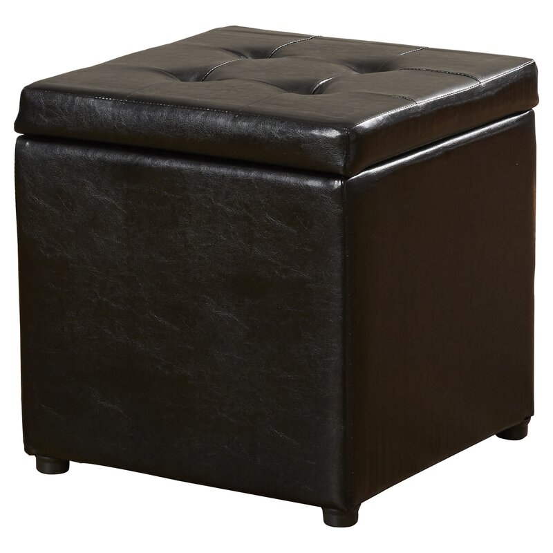 default_name - Charlton Home Donaldson Upholstered Storage Cube Ottoman & Reviews