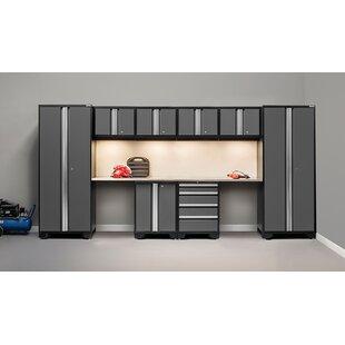 Bold 3.0 10 Piece Garage Storage Cabinet Set With Worktop
