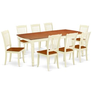 Kollman 9 Piece Extendable Solid Wood Dining Set