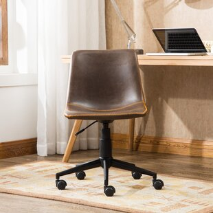 Florinda Faux Swivel Air Lift Office Chair