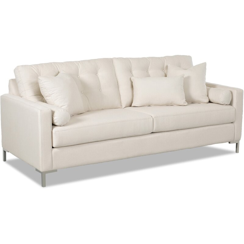 wayfair custom upholstery harper sofa with metal legs reviews rh wayfair com sofa legs with casters sofa with leg rest