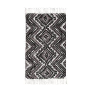 Mithun Handwoven Cotton Dark Grey Rug