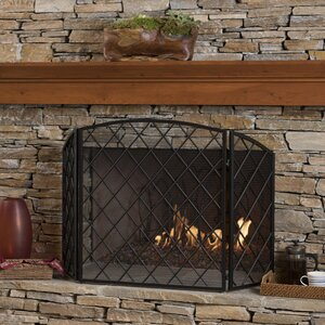 Manny 3 Panel Iron Fireplace Screen