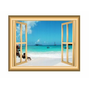 Beach Nature Scene Window Wall Decal