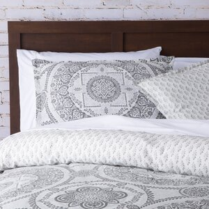 Apollo Medallion 150 Thread Count 100% Cotton Reversible Duvet Set