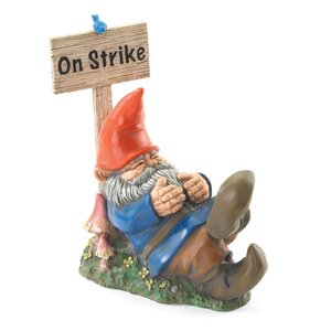 Garden Gnome on Strike Statue