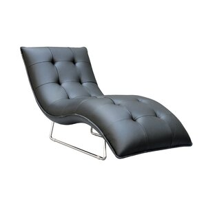 Alsatia Leather Chaise Lounge by Wade Logan