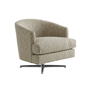 Lexington Zavala Graves Geometric Swivel Barrel Chair