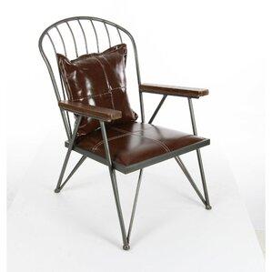Dominick Metal Wood Armchair by Williston Fo..