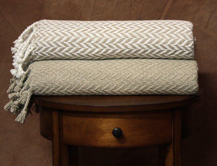 Wrought Studio Wallasey Cotton Throw Blanket