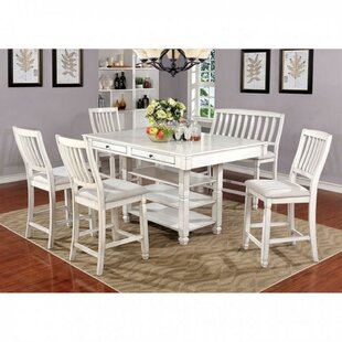 Halima Transitional 7 Piece Pub Table Set