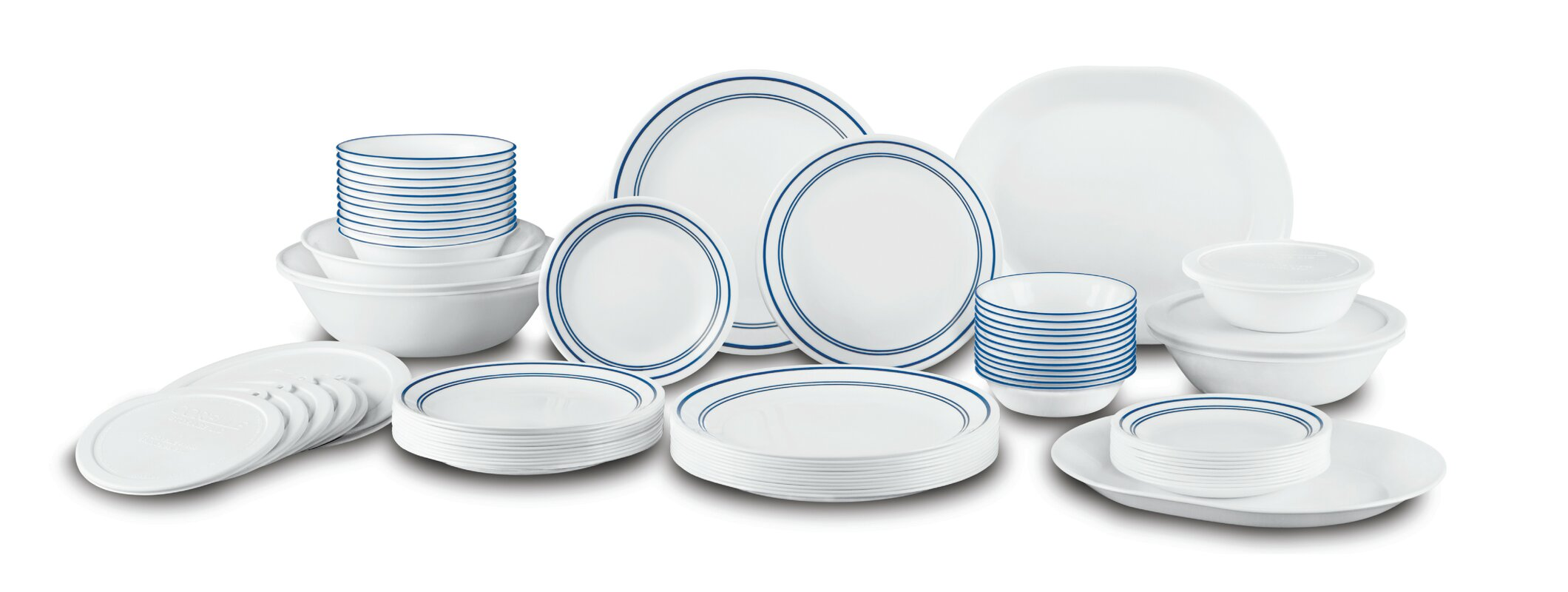Classic Cafe Living Ware 74 Piece Dinnerware Set Service for 12  sc 1 st  Wayfair & Corelle Classic Cafe Living Ware 74 Piece Dinnerware Set Service ...