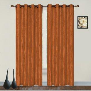 Burge Solid Room Darkening Grommet Single Curtain Panel
