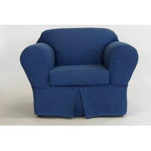 Beau 2 Piece Box Cushion Chair Slipcover