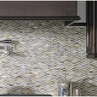 Mochachino Hexagon Gl Mosaic Tile In Taupe
