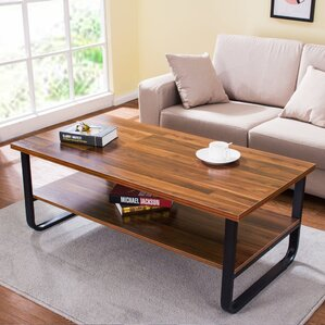 Polster Coffee Table with Lower Storage Shelf by Varick Gallery